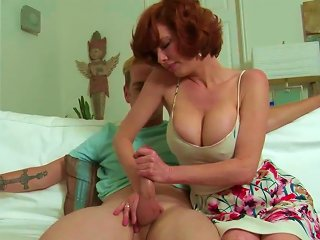 Busty Mature Goes Wild On A Young Prick